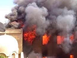 islamistas incendian obispado