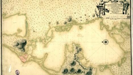 Plano de la Cyudad y Bahya de Cartagena de las Yndias Nuevo Reyno de Granada Levantado por D. Juan de Herera, Ratyfycado y De - copia