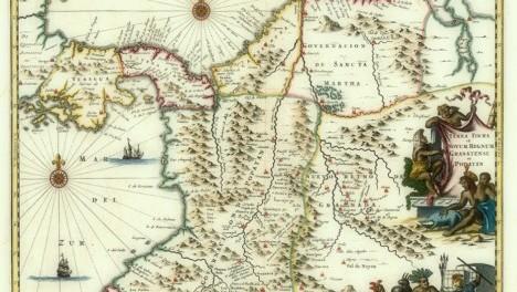 Tierra Firme y Nuevo Reino de Granada y Popayán (Panama and northern South America). Willem Blaeu, 1631