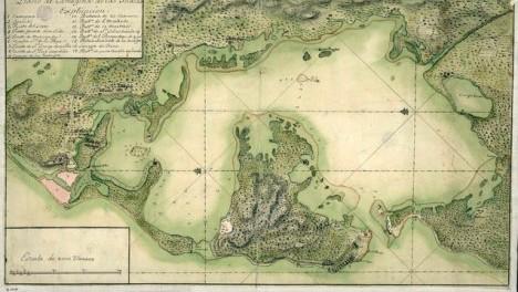 Isaak Tirion, Amsterdam, 1765 Plano geográfico de Cartagena