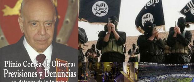 Plinio Correa de Oliveira, Issis, Previsiones y denuncias, Atentados, terrorismo
