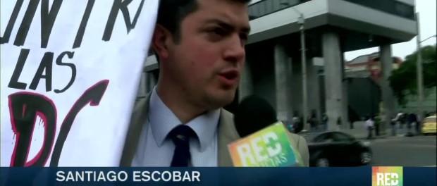 Marcha contra las Farc EP