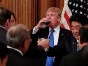 El primer ministro de Japón, Shinzo Abe, y el presidente de los Estados Unidos, Donald Trump