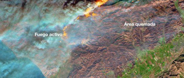 Incendios del sur de California - Foto NASA